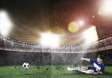 Boy play football Royalty Free Stock Photo