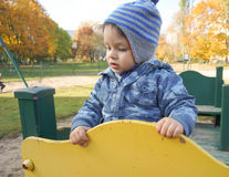 Boy at play ground Stock Photography