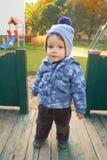 Boy at play ground Stock Photo