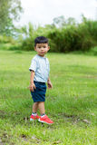 Boy play at park. Baby boy play at park royalty free stock image