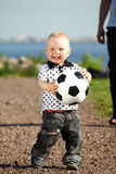 Boy play soccer Royalty Free Stock Photos