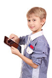 Boy play with tablet Royalty Free Stock Photos