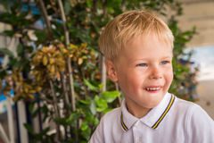 Boy is played royalty free stock photography