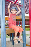 Boy at playground Stock Image