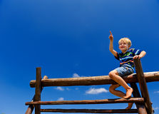 Boy in playground Royalty Free Stock Photos