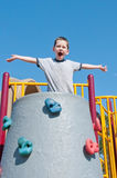 Boy on playground Royalty Free Stock Image