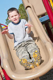 Boy on playground Royalty Free Stock Images