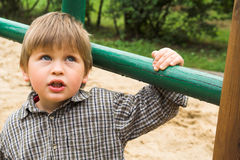 Boy on the playground Royalty Free Stock Image