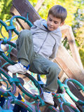 Boy at the playground Royalty Free Stock Photos