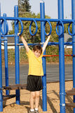 Boy on the playground Stock Photo