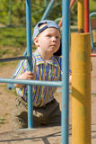 Boy on playground Stock Photography