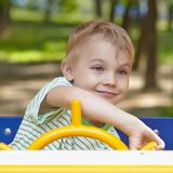 Boy on a playground Royalty Free Stock Photo