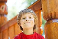Boy on the playground Royalty Free Stock Photography