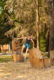 Boy on the playground Royalty Free Stock Photos