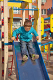 Boy on playground Royalty Free Stock Photography