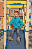 Boy on playground Stock Photo