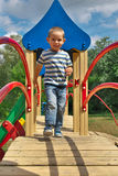 Boy on playground Royalty Free Stock Photo