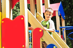 Boy on the playground Royalty Free Stock Photo