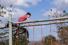 Boy Playground Netting Stock Photography