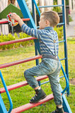 The boy on the playground Royalty Free Stock Photography