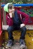 Boy on playground Stock Images