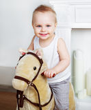 Boy playign at home Stock Photo