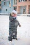 Boy playin in snow Royalty Free Stock Photo