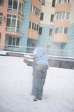 Boy playin in snow Royalty Free Stock Photography