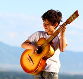 A boy playing Royalty Free Stock Photography