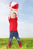 Boy playing ball Royalty Free Stock Photography