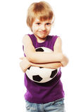 Boy playing with ball Stock Image