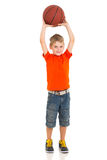 Boy playing basketball Royalty Free Stock Photography