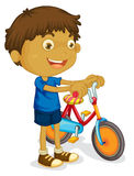 A boy playing bicycle Stock Photography