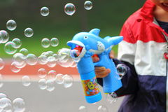 Boy playing Bubble Stock Photo
