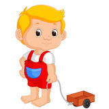 Boy playing car. Illustration of boy playing car Stock Images