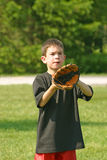 Boy Playing Catch Stock Images