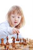 Boy playing chess Royalty Free Stock Photo