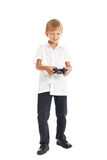 A boy playing computer games Stock Photo