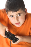 Boy playing computer games Royalty Free Stock Photo