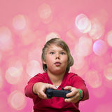 Boy playing computer games. Stock Photography