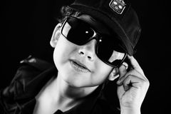 Boy playing cop Stock Photography