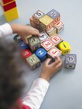 Boy Playing With Cubes Royalty Free Stock Images