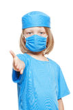 Boy playing a doctor Royalty Free Stock Photos
