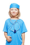 Boy playing a doctor Stock Photo