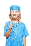 Boy playing a doctor Stock Photography