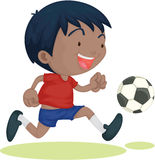 A Boy Playing Football Royalty Free Stock Photo