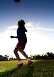 Boy playing football Royalty Free Stock Image