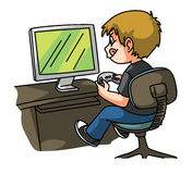 Boy Playing game Royalty Free Stock Photo