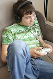 Boy Playing Games Stock Images