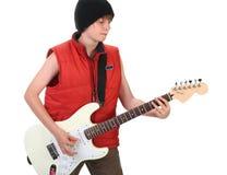 Boy Playing Guitar Stock Photos
